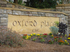 Oxford Place East Sign