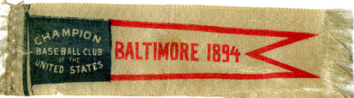 1894 Baltimore Oriole Banner Bookmark