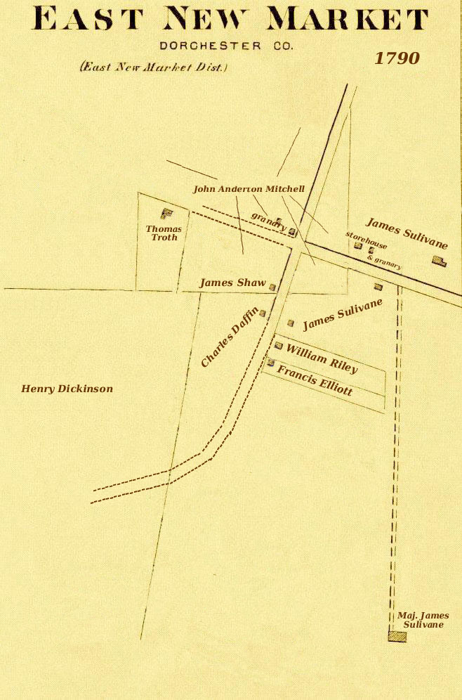 1790 Conceptual Map of East New Market